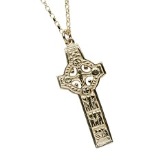 Clonmacnoise High Cross Yellow Gold Necklace