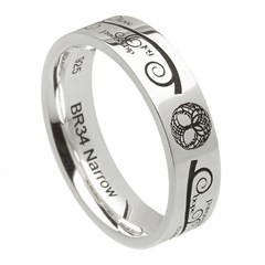 Tree of Life Silver Wedding Ring