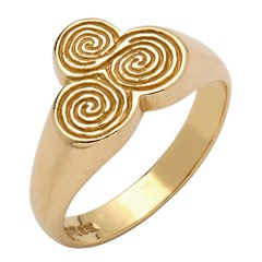 Newgrange Spiral Yellow Gold Ring