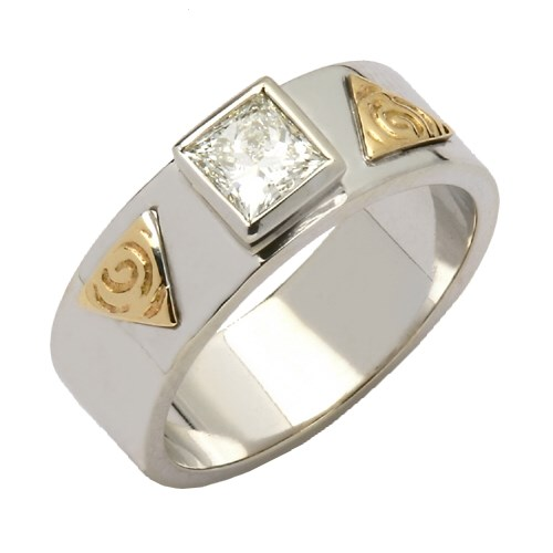 Trinity Shoulder Ring with Princess Cut Diamond
