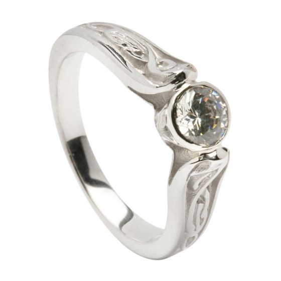 Diamond Le Cheile White Gold Engagement Ring - 0.5ct Diamond