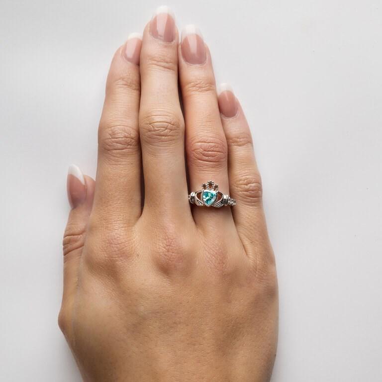 March Birthstone Claddagh Ring Claddagh Rings Rings