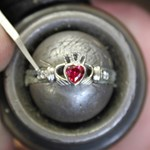 July Birthstone Claddagh Ring