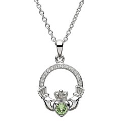 August Birthstone Claddagh Pendant