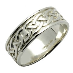 Celtic Knot Silver Wedding Band