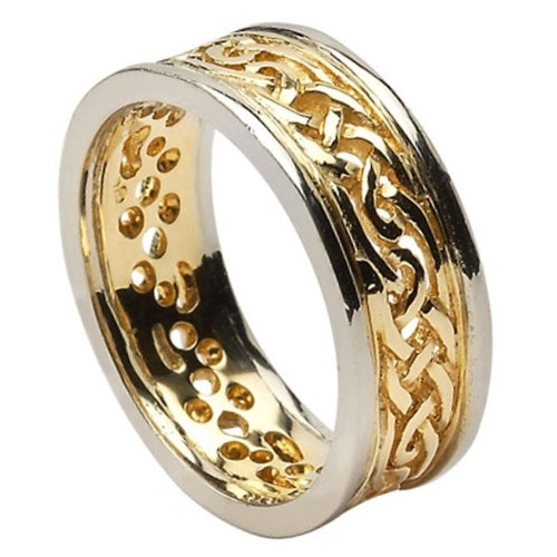 pagan wedding rings filagree celtic wedding ring with trim anillos de boda 6356