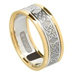 Lovers Knot Wedding Band with Trim