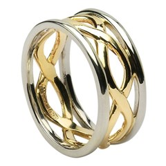 Infinity Weave Wedding Ring with Trim