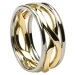 Infinity Weave Wedding Ring with Trim - Gents