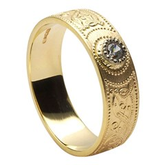 Celtic Warrior Diamond Set Wedding Band