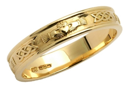Spotlight On - Claddagh And Celtic Knot Wedding Band - Rings from ...