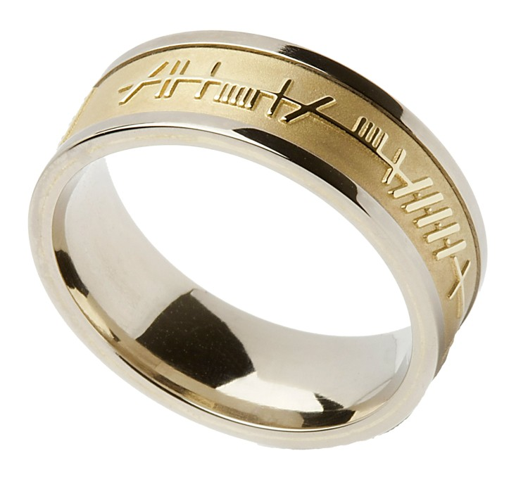 wedding silver women gold yellow ring ltd irish mens s celtic ogham rings