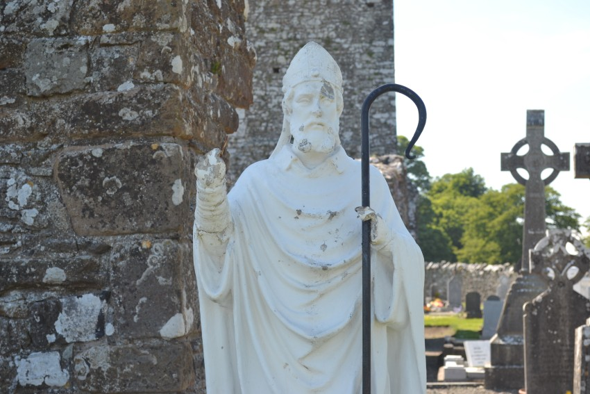 Statue of Saint Patrick in Slane, County Meath